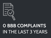 0 BBB Complaints in the last 3 years