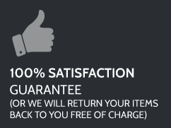 100% Satisfaction Guarantee(Or we will return your items back to you free of charge)