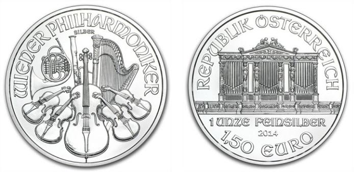Viennta Philharmonic Silver Coins